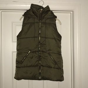Jackets & Blazers - ONLY 2 LEFT Hooded Puffy Vests in olive green